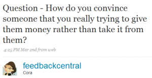 feedbackcentral 1 300x155 Twitter and Quicken Loans: Twarketing Case Study #2 (Audio)