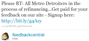feedbackcentral 2 300x140 Twitter and Quicken Loans: Twarketing Case Study #2 (Audio)
