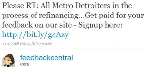 feedbackcentral 2 300x140 Twitter and Quicken Loans: Twarketing Case Study #2 (Audio)