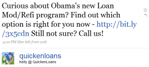 kelly tweets 1 300x135 Twitter and Quicken Loans: Twarketing Case Study #2 (Audio)