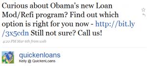 kelly tweets 1 300x135 Twitter and Quicken Loans: Twarketing Case Study #2 (Audio)
