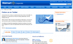 Walmart Twitter 300x180 2010 Fortune 100 List Of Companies And Their Current Twitter Status